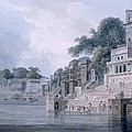 Dasasvamedha Ghat, Benares, Uttar by Thomas & William Daniell