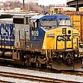 Dash-9 Locomotive Csx 9029 In Baltimore by Bill Swartwout Photography