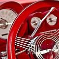 Dashboard Red Classic Car by Carolyn Marshall