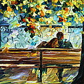 Date On The Bench by Leonid Afremov