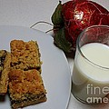 Date Squares - Snack - Dessert - Milk by Barbara Griffin