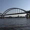 Davenport Skyline And Centennial Bridge by Heidi Brandt