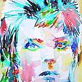 David Bowie - Watercolor Portrait.6 by Fabrizio Cassetta
