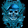 David Cook Studios Army Ranger Military Skull Art by David Cook  Los Angeles Prints