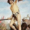 David Victorious Over Goliath by Gabriel Joseph Marie Augustin Ferrier