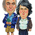 David Walliams and Matt Lucas as George and Sandra by Art