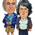 David Walliams and Matt Lucas as George and Sandra by Art