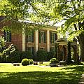 Davidson College Old Well And Philanthropic Hall by Orange Cat Art