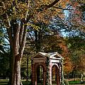 Davidson College Old Well In Autumn by Orange Cat Art