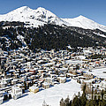 Davos Platz Mountains Parsenn And Town by Andy Smy
