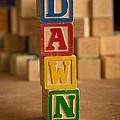Dawn - Alphabet Blocks by Edward Fielding