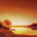 Dawn Arkansas River by Ann Powell