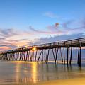 Dawn At Avalon Pier by Simon Crumpton
