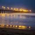 Dawn At Huntington Beach Pier By Denise Dube by Denise Dube