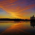 Dawn At Lake Tiorati by Thomas  McGuire