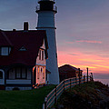 Dawn At Portland Lighthouse by Jerry Fornarotto
