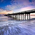 Dawn At The Juno Beach Pier by Debra and Dave Vanderlaan