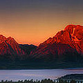 Dawn Light On The Tetons Grant Tetons National Park Wyoming by Dave Welling