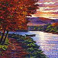 Dawn On The River by David Lloyd Glover