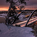 Dawn Over Snowy Austin by Eric Snethkamp