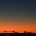 Dawn Sky Over Boston by Ken Stampfer