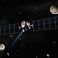 Dawn Spacecraft, Artwork by Science Photo Library
