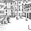 Day In Piazza Di Campitelli by Elizabeth Thorstenson