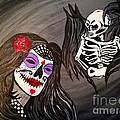 Day Of The Dead Good Vs Evil by Melissa Darnell Glowacki