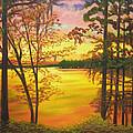 Day's End On Lake Talquin by Douglas Ann Slusher