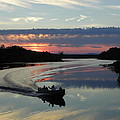 Day's End On The Sebec River by Georgia Hamlin