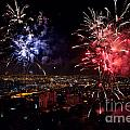 Dazzling Fireworks II by Ray Warren