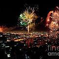 Dazzling Fireworks Iv by Ray Warren