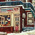 De Bullion Street Depanneur Kik Cola Montreal Streetscenes by Carole Spandau