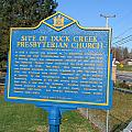 De-kc81 Site Of Duck Creek Presbyterian Church by Jason O Watson
