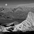 Death Valley Zabriskie Point Bw Img 0525psd by Greg Kluempers