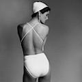 Debbie Dickinson Wearing A Kamali Bathing Suit by Francesco Scavullo