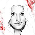 Debra Morgan Portrait - Dexter by Olga Shvartsur