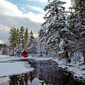 December Afternoon At The Red Boathouse by David Patterson
