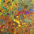 December Remembering Summer Flowers by David Briscoe