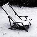 Deck Chair Under The Snow by Jean Schweitzer