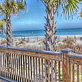 Deck On The Beach by Gayle Price Thomas