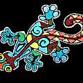 Deco Gecko by Brandy Nicole Neal Stenstrom