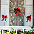 Decorated Christmas Window Key West by Ian Monk