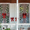 Decorated Christmas Windows Key West  by Ian Monk