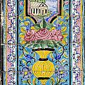 Decorated Tile Work At The Golestan Palace In Tehran Iran by Robert Preston