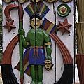 Decoration On Wooden Door In Lansdowne by Ashish Agarwal