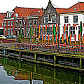 Decorations For Orange Day To Celebrate The Queen's Birthday In Enkhuizen-netherlands by Ruth Hager