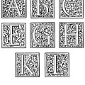 Decorative Initials, C1600 by Granger