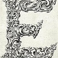 Decorative Letter Type E 1650 by Georgia Fowler