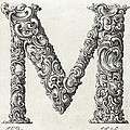 Decorative Letter Type M 1650 by Georgia Fowler